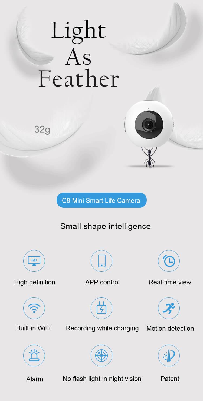 C8 wireless mini IP camera