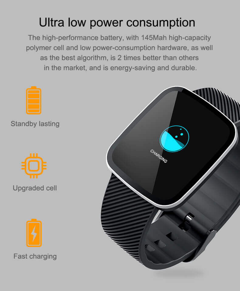 Z30 Full Touch Screen Healthy Heart Monitor Smart Watch